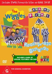 The Wiggles and Bananas in Pyjamas - Wiggly TV and Rock-A-Bye Bananas DVD Cover - Copy.jpg