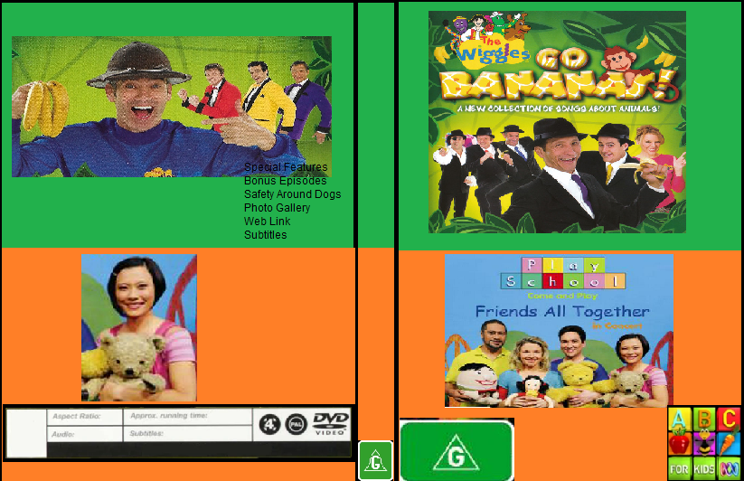ABC For Kids Fanon:The Wiggles & Play School Go Bananas & Friends All Together In Concert