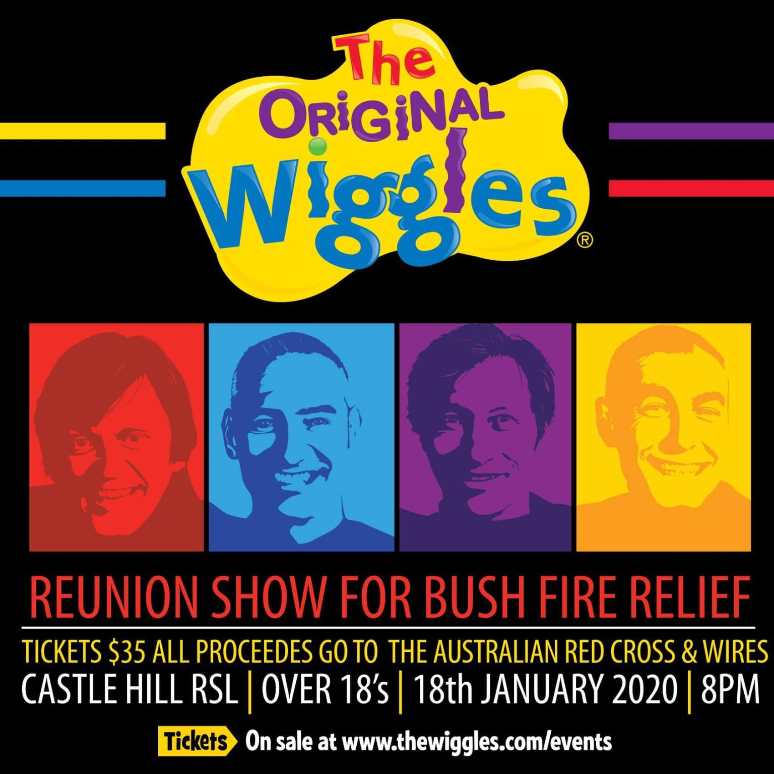 The Original Wiggles Reunion Show For Bush Fire Relief