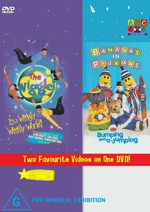 The Wiggles and Bananas in Pyjamas - IAWWW and BAAJ DVD Front Cover.jpg
