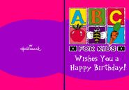 ABC for Kids Birthday Card