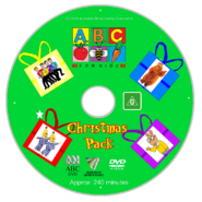 ABC for Kids Christmas Pack 2018 re-release Full DVD Cover - Disc