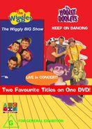 The Wiggles and The Hooley Dooleys - The Wiggly Big Show and Keep on Dancing DVD Cover - Copy