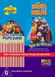 The Wiggles and The Hooley Dooleys - Hot Poppin' Popcorn and Roll Up Roll Up DVD Cover - Copy - Copy.jpg