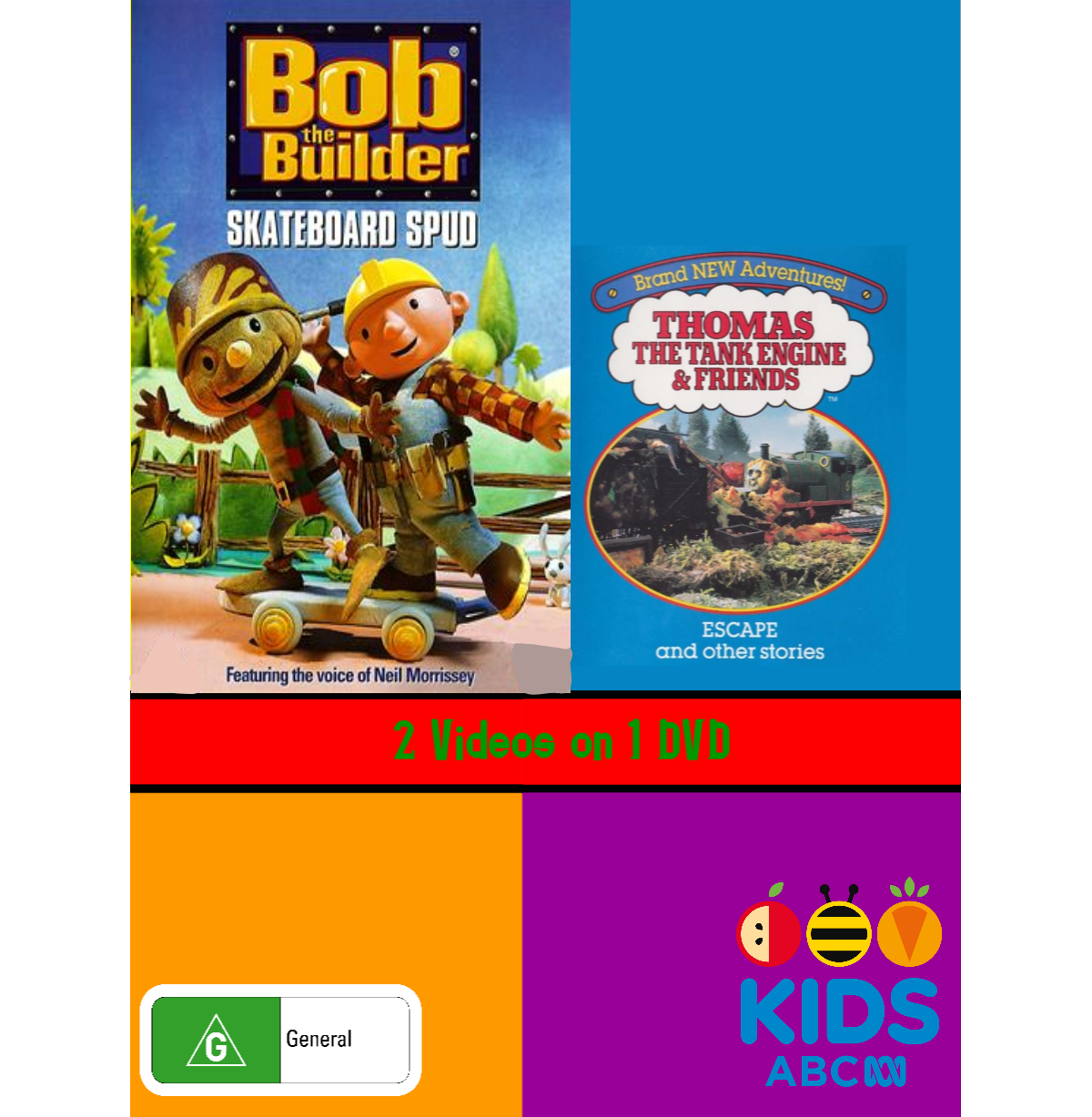 Bob the Builder and Thomas and Friends: Skateboard Spud and Escape (video)