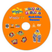 The Wiggles and Bananas in Pyjamas - Wiggly TV and Rock-A-Bye Bananas DVD Disc