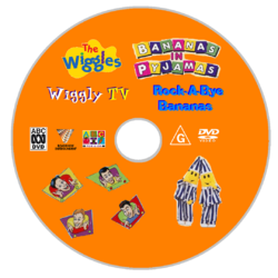 The Wiggles and Bananas in Pyjamas - Wiggly TV and Rock-A-Bye Bananas DVD Disc.png