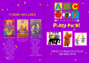ABC for Kids Party Pack 2018 re-release DVD Booklet - Front and Back