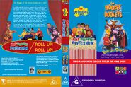 The Wiggles and The Hooley Dooleys - Hot Poppin' Popcorn and Roll Up Roll Up DVD Cover - Copy