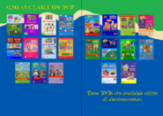The Wiggles and Bananas in Pyjamas - Wiggle Bay and Surf's Up re-release Full DVD Booklet - Inlay