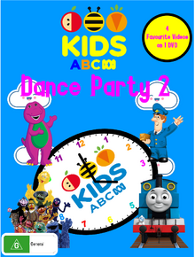 ABC For Kids - Dance Party 2 DVD Cover.png