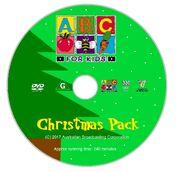 ABC for Kids Christmas Pack Full DVD Cover - Disc