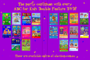 ABC for Kids Party Pack 2018 re-release Full DVD Inlay