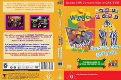 The Wiggles and Bananas in Pyjamas - Wiggly TV and Rock-A-Bye Bananas DVD Cover.jpg