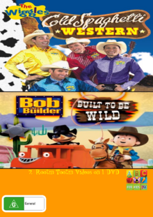 The Wiggles and Bob the Builder Cold Spaghetti Western and Built to Be Wild DVD Cover (Front).png