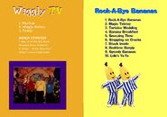 The Wiggles and Bananas in Pyjamas - Wiggly TV and Rock-A-Bye Bananas DVD Booklet - Inlay