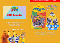 The Wiggles and Bananas in Pyjamas - Wiggly TV and Rock-A-Bye Bananas re-released DVD Cover - Booklet.png