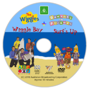 The Wiggles and Bananas in Pyjamas - Wiggle Bay and Surf's Up re-release Full DVD Cover - Disc
