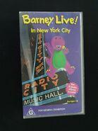 Barney Live! in New York City Australian VHS