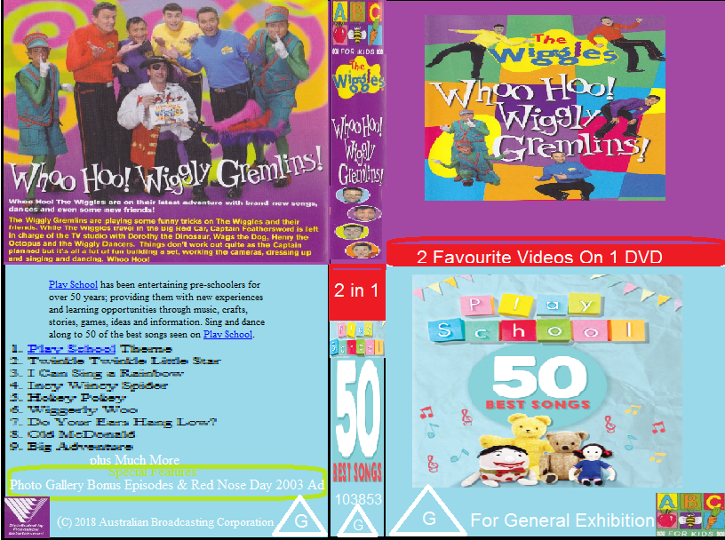 ABC For Kids Fanon:The Wiggles & Play School Whoo Hoo Wiggly Gremlins & 50 Best Songs