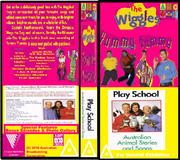 The Wiggles And Play School Yummy Yummy & Australian Animals Stories And Songs 2018 DVD Cover.png