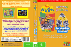 The Wiggles and Bananas in Pyjamas - Wiggly TV and Rock-A-Bye Bananas re-released DVD Cover.png