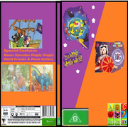 The Wiggles & Play School It's A Wiggly Wiggly World & Jemima's Big Adventure 2019 DVD Cover.png