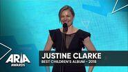 Justine Clarke wins Best Children's Album 2018 ARIA Awards