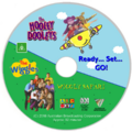 The Wiggles and The Hooley Dooleys - Wiggly Safari and Ready Set Go DVD re-release DVD Cover - Disc