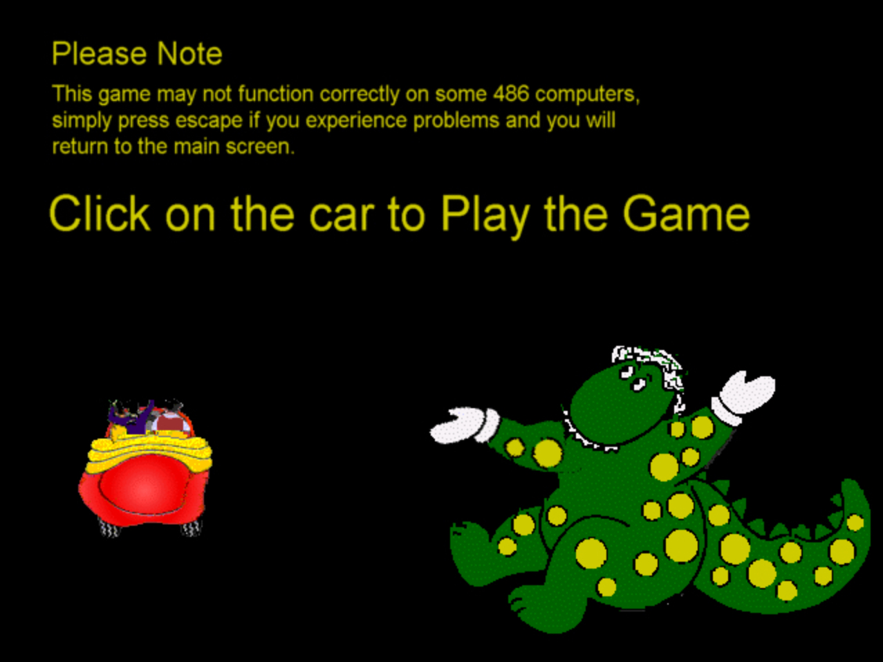 The Big Red Car Game