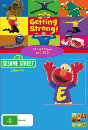 The Wiggles and Sesame Street Getting Strong and Elmocize DVD Cover (Front).png