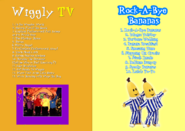 The Wiggles and Bananas in Pyjamas - Wiggly TV and Rock-A-Bye Bananas re-released DVD Cover - Booklet - Inlay