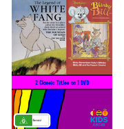 The Legend of the White Fang and Blinky Bill The Fountain of Gold and Blinky Remembers Nutsy's Birthday DVD Cover.png