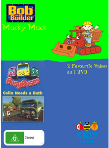 Bob the Builder and Busy Buses Mucky Muck and Colin Needs a Bath DVD Cover.png