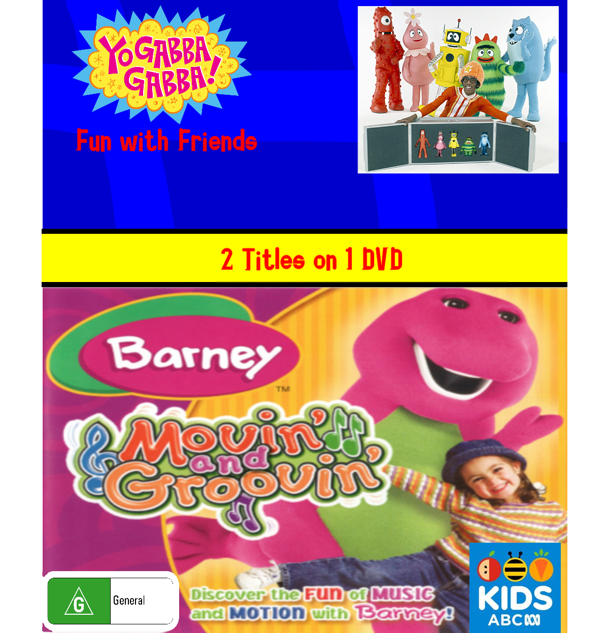 Yo Gabba Gabba and Barney - Fun with Friends and Movin' and Groovin'