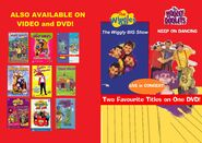 The Wiggles and The Hooley Dooleys - The Wiggly Big Show and Keep on Dancing DVD Booklet