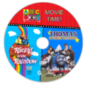 ABC for Kids Movie Time - Racing to the Rainbow + Thomas and the Magic Railroad DVD Cover - Disc