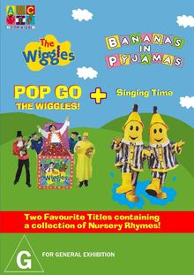 The Wiggles and Bananas in Pyjamas - Pop Go the Wiggles and Singing Time DVD Cover - Copy.jpg