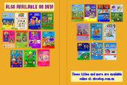 The Wiggles and Bananas in Pyjamas - Wiggly TV and Rock-A-Bye Bananas re-released DVD Cover - Inlay