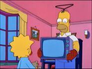 Homer Simpson as a Teletubby