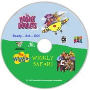 The Wiggles and The Hooley Dooleys - Wiggly Safari and Ready Set Go DVD Cover - Disc