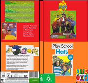 The Wiggles & Play School Yule Be Wiggling & Hats 2019 DVD Cover.png