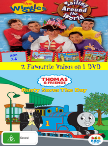 The Wiggles and Thomas and Friends Sailing Around the World and Rusty Saves the Day DVD Cover (Version 2).png