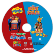 The Wiggles and The Hooley Dooleys - Hot Poppin' Popcorn and Roll Up Roll Up 2018 re-release DVD - Disc