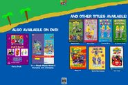 The Wiggles and Bananas in Pyjamas - Wiggle Bay and Surf's Up DVD - Inside Cover