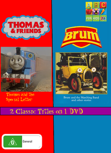 Thomas and Friends and Brum Thomas and the Special Letter and Brum and the Marching Band DVD Cover.png