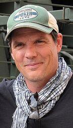 Paul Johansson at Camp As Sayliyah, Qatar