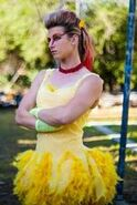 Jessie Graff in her Chicken Costume from the live action chicken fight- 2013-08-24 19-14
