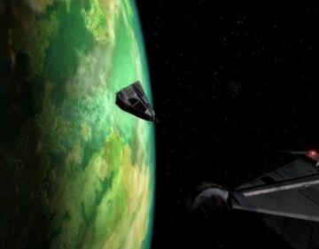 Vansen und Damphousse stürzen über Planet 2063-Y ab