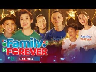 """ABS-CBN Christmas Station ID 2019 """"Family Is Forever"""" Recording Lyric Video (With Eng Subs)"""